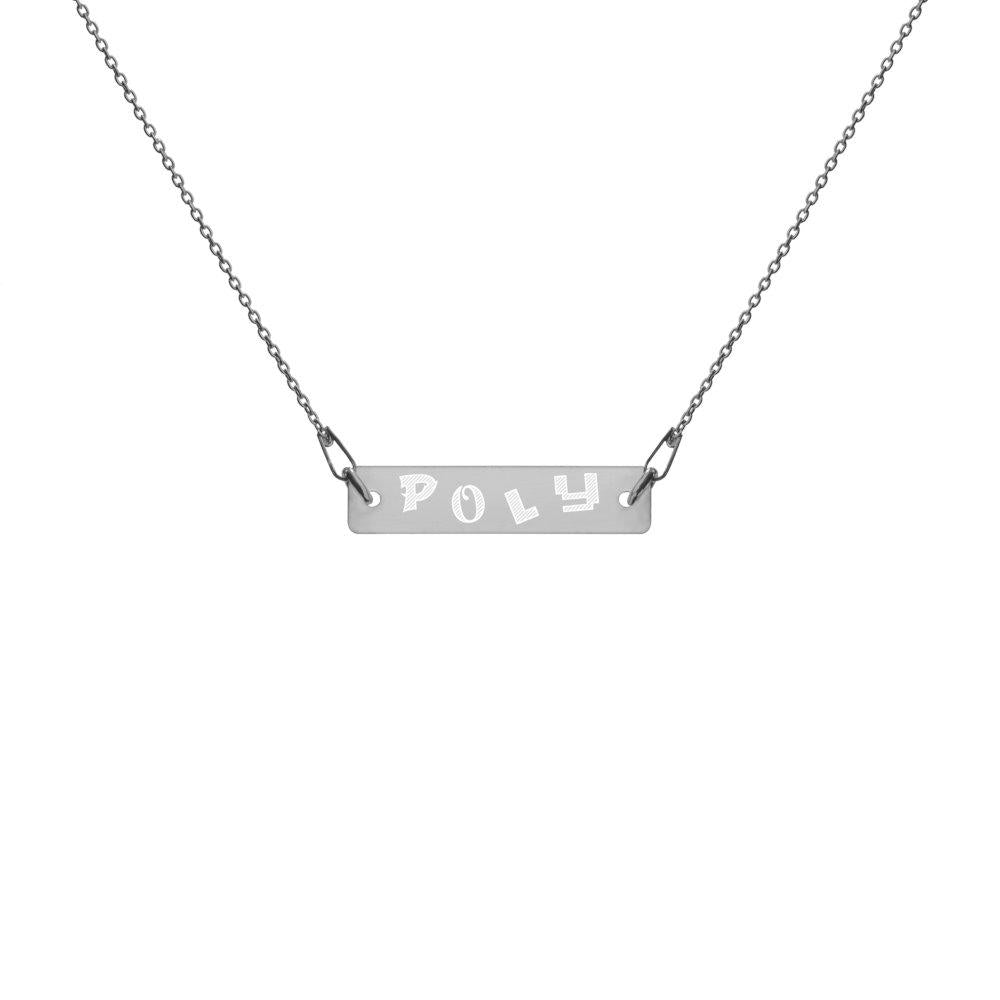 Poly Silver Necklace with Black Rhodium Coating on The Good Shop Online Store