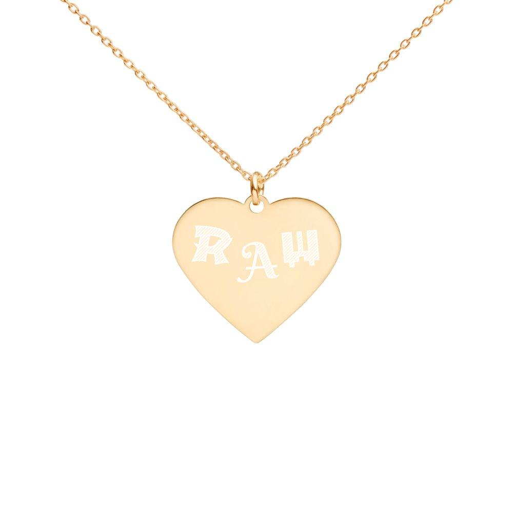 Raw Heart Necklace in 24K Gold Coated Silver on The Good Shop Online Store