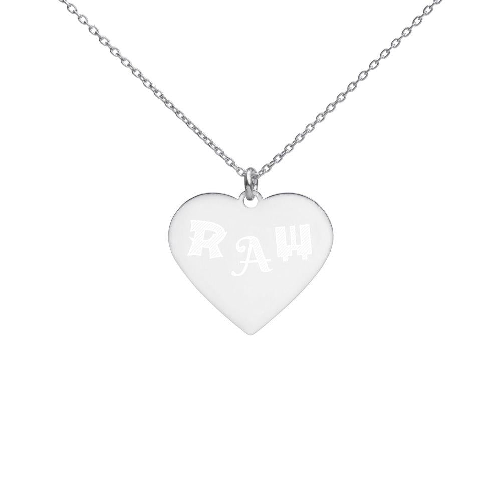 Raw Silver Heart Necklace on The Good Shop Online Store