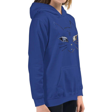 Annie Puaso Cat Hoodie - Kids - Blue on The Good Shop Online Store