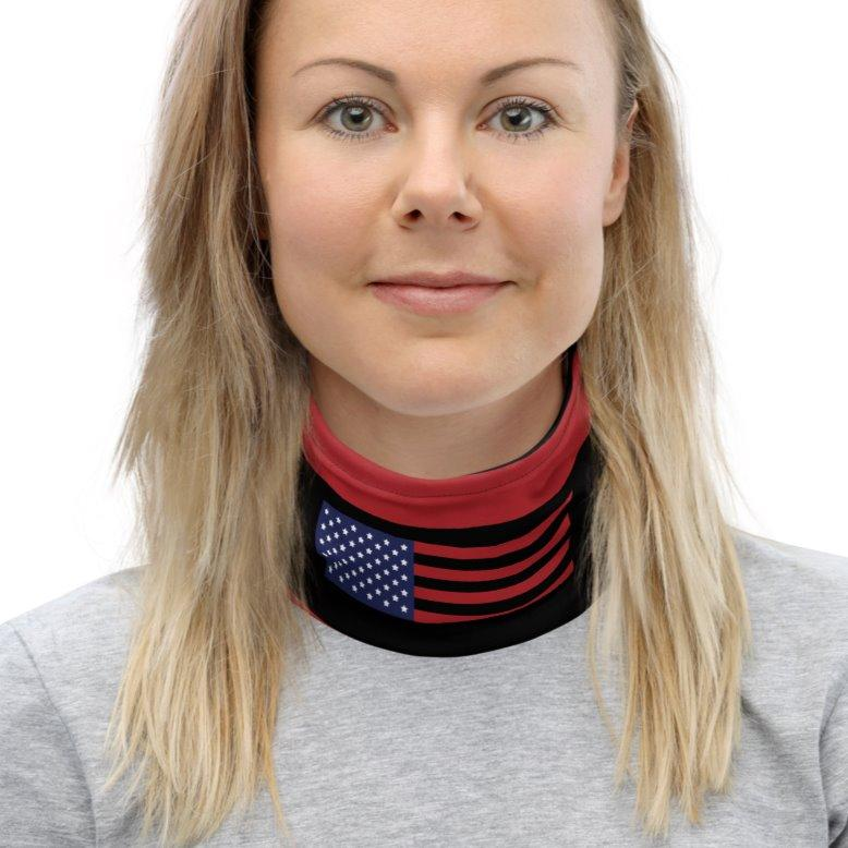 Stars and Stripes US Flag Neck Gaiter Womens L on The Good Shop Online Store