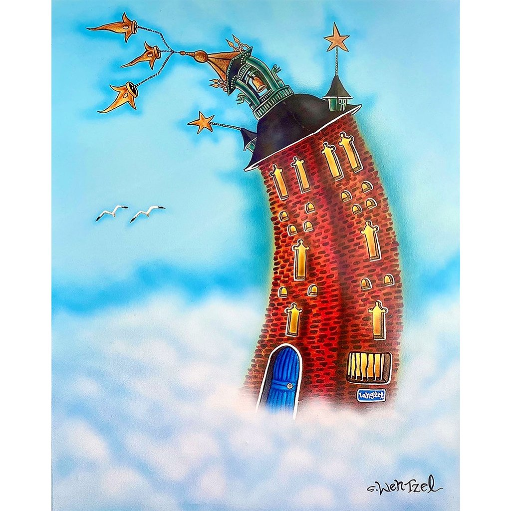 Sthlm Over the Clouds - Original Painting by Stefan Wentzel on The Good Shop Online Store