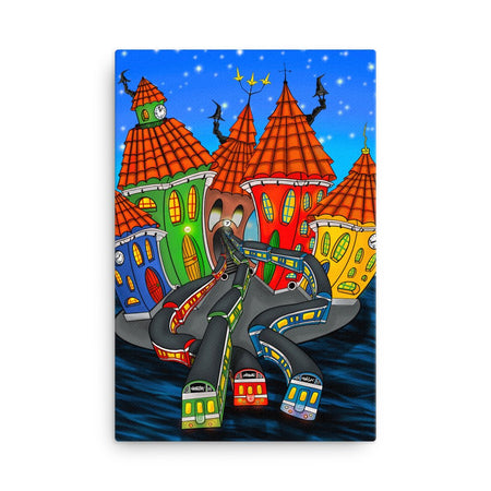 Stockholm Underground Canvas Print - Stefan Wentzel - Art By Wentzel on The Good Shop Online Store