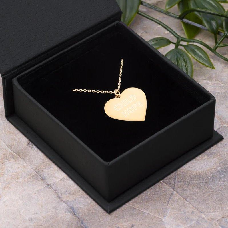 CHILDHOPE 24K Gold Coated Silver Heart Necklace on The Good Shop Online Store