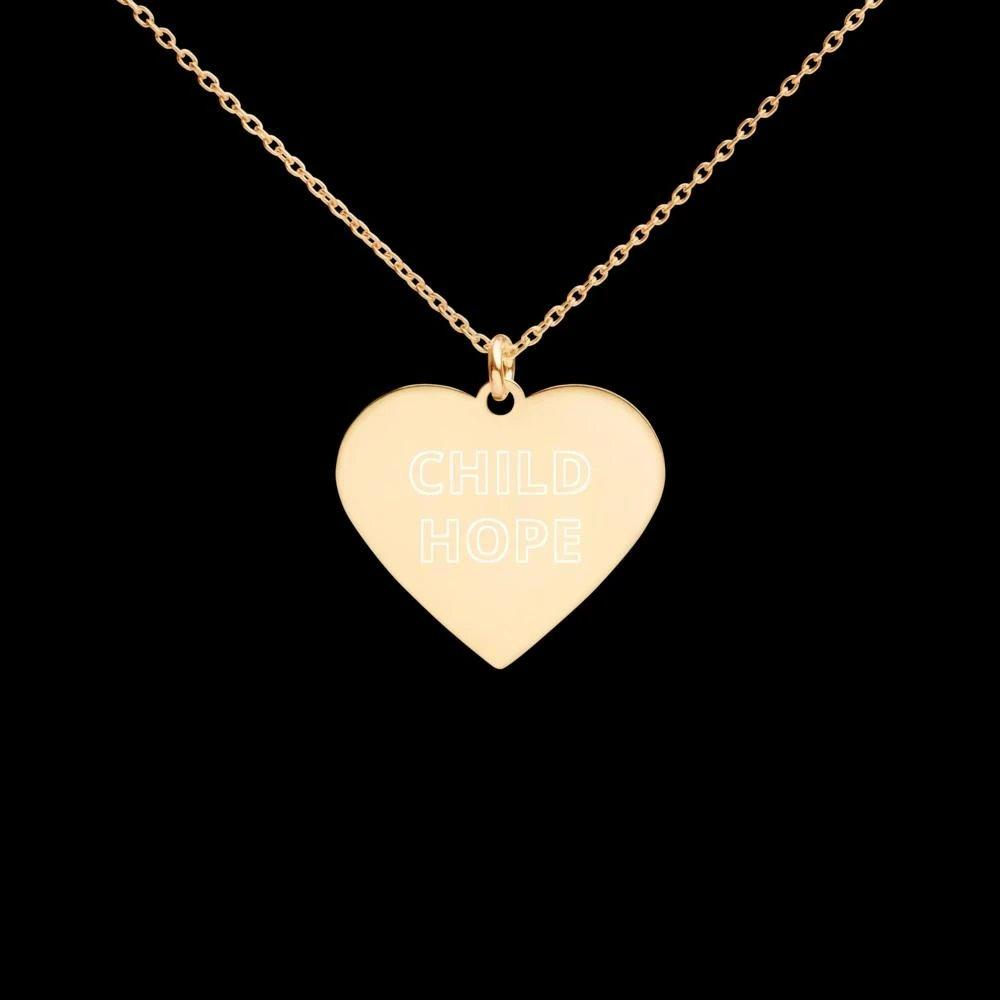 Subtle Childhope 24K Gold Coated Silver Heart Necklace on The Good Shop Online Store