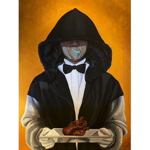 The Waiter - Denize Artuñedo Engblom - Original Painting on The Good Shop Online Store