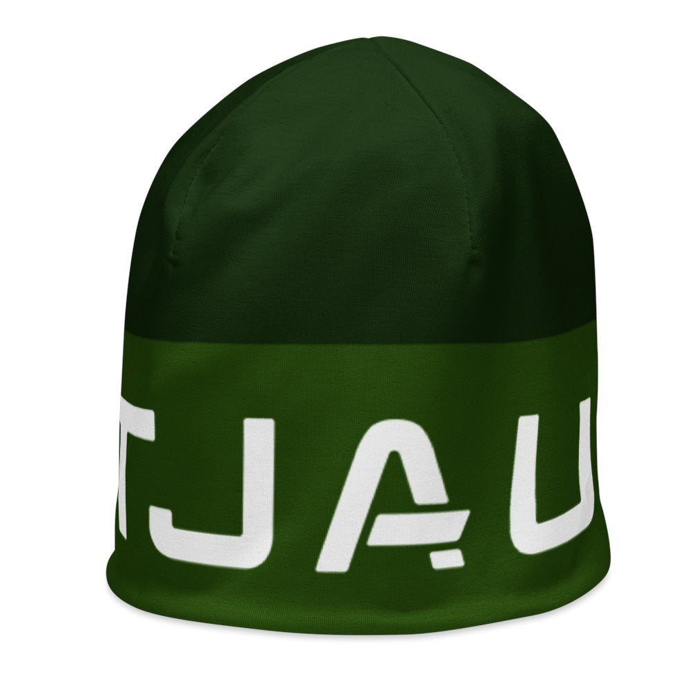 Tjau Beanie - Black / Green on The Good Shop Online Store