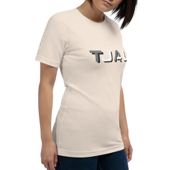 TJAU Logo T-Shirt Womens Small on The Good Shop Online Store