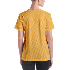 Worldimproving Pattern T-shirt - Mellow Yellow Female Model 250ITWC on The Good Shop Online Store