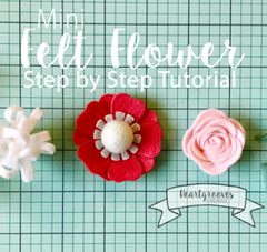 Download Mini Felt Flower Instructions Kit