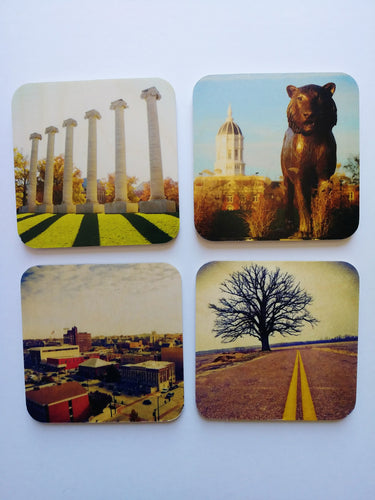 Art & Soul Photography Columbia Wooden Coaster Set