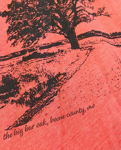Plume Bur Oak Tree Unisex Tee Clay