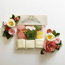 Load image into Gallery viewer, Heartgrooves Handmade Magnolia Rose Felt Flower Kit
