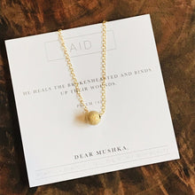 "Load image into Gallery viewer, Dear Mushka Necklace ""Aid"" Psalm 147:3"