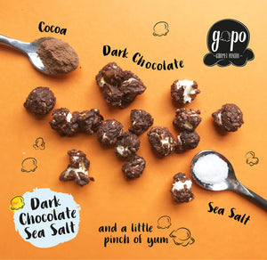 "GoPo Gourmet Popcorn Gallon Bag ""Dark Chocolate Sea Salt"""