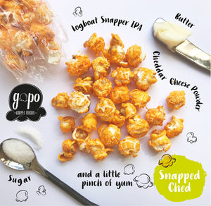 "Gopo Gourmet Popcorn Gallon Bag ""Snapped Cheddar"""