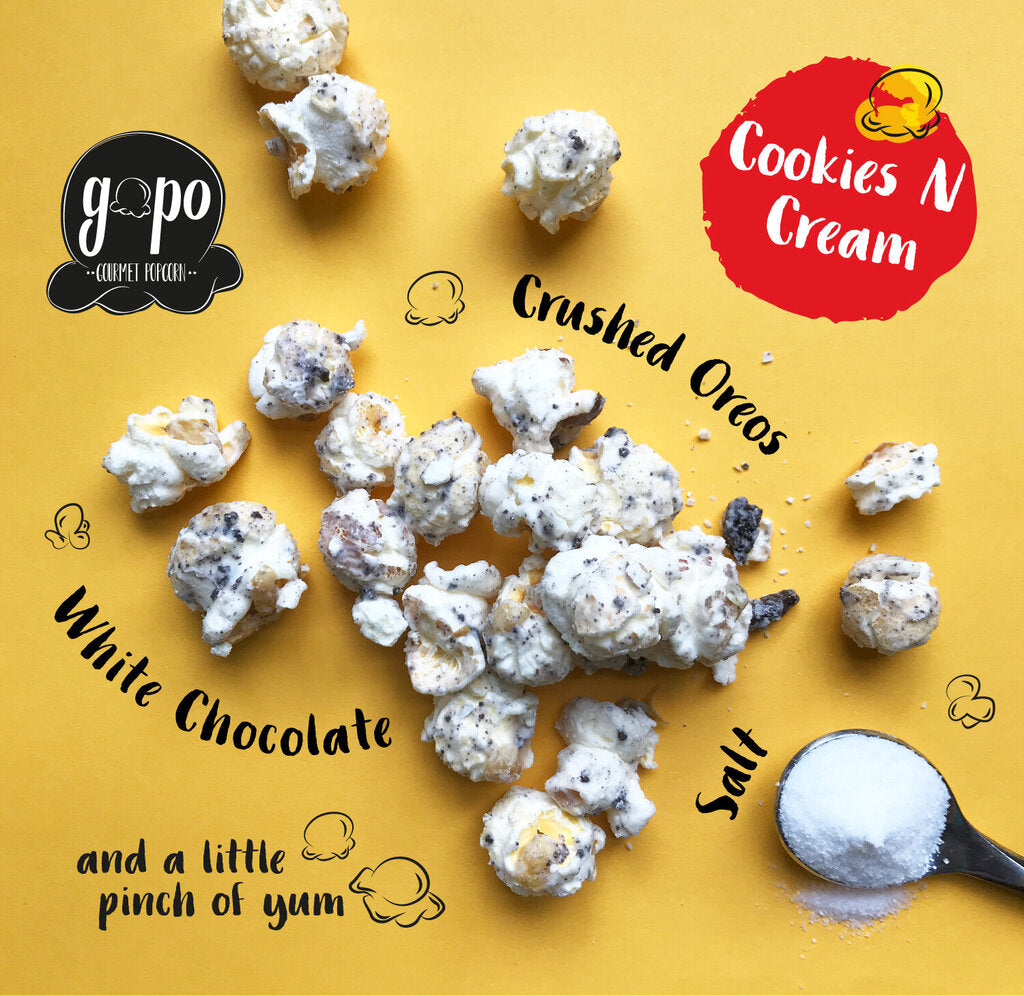 GoPo Gourmet Popcorn Gallon Bag - Cookies N Cream (Plume Pick-Up Only)