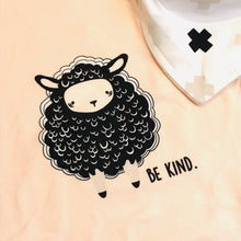 "Load image into Gallery viewer, Plume Baby Double Layer Knit Burp Cloth ""Be Kind Sheep"""