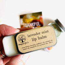 "Load image into Gallery viewer, Homegrown Girls Lip Balm Tin ""Lavender Mint"""