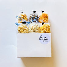 Load image into Gallery viewer, GoPo Gourmet Popcorn 6-Pack Tote (Plume Pick-up Only)