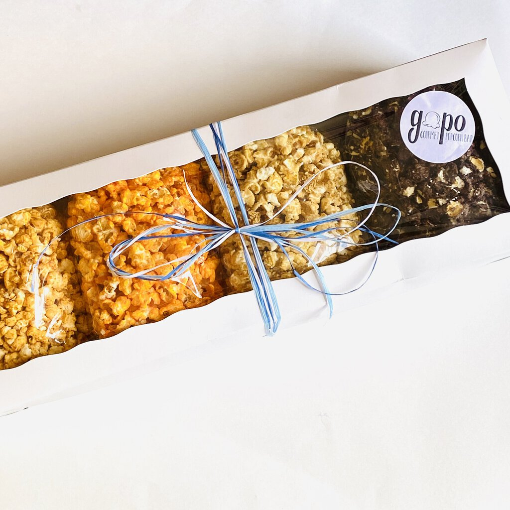 GoPo Gourmet Popcorn Sampler Gift Box - Large (Plume Pick-up Only)