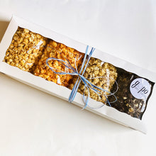 Load image into Gallery viewer, GoPo Gourmet Popcorn Sampler Gift Box - Large (Plume Pick-up Only)