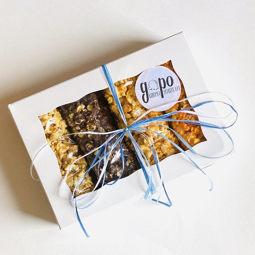 GoPo Gourmet Popcorn Sampler Gift Box - Small (Plume Pick-up Only)