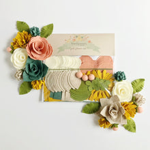 "Load image into Gallery viewer, Heartgrooves Handmade Felt Flower Craft Kit ""Succulent Rose"""