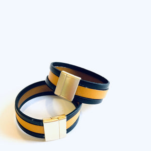 One Designs 20MM Triple Band Black & Gold