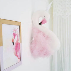 Baby Swan Crown Gauze Pillows