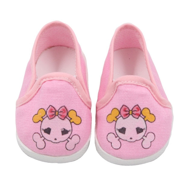 Cartoon Skull Pattern Mini Shoes