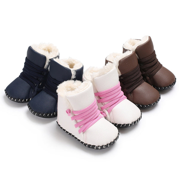 Baby toddler soft bottom PU leather shoes