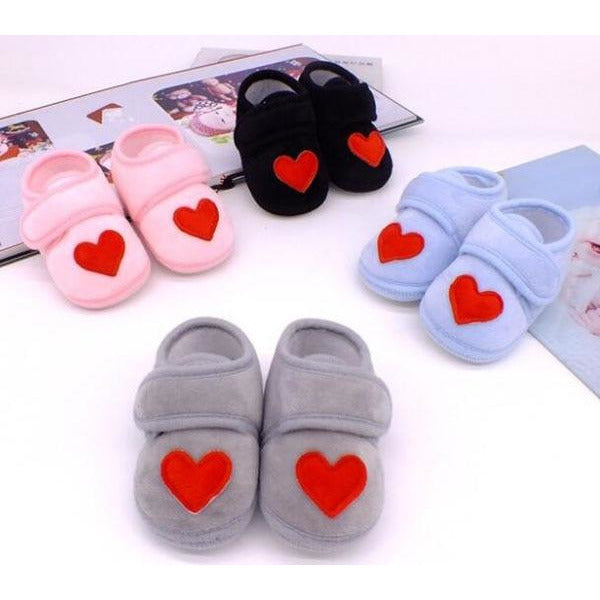 Baby Shoes Red Heart Newborn