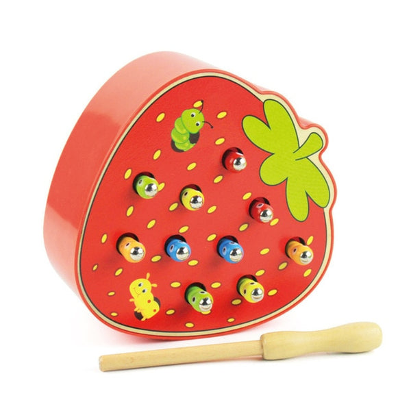 Baby Wooden Toys Catching Worms Puzzle Game