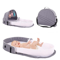 Mummy Bag Travel Baby Crib cot With Mosquito