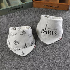 Baby Bibs Bandana Cotton Double Layers