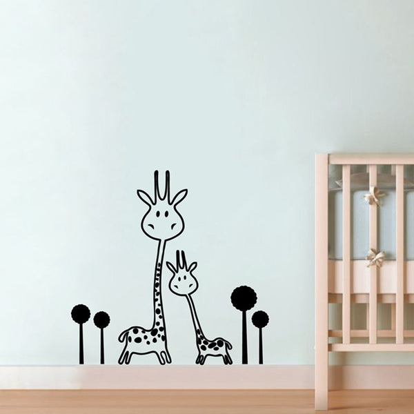 Wall Decal Removable Giraffe Wall Sticker Baby Nursery