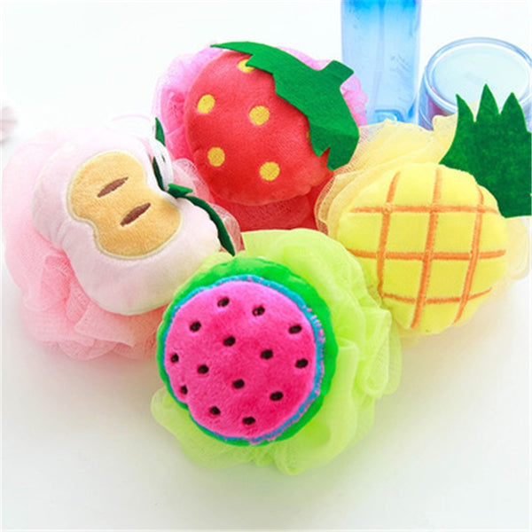 Fruit Shape Baby Bath Ball Bathroom