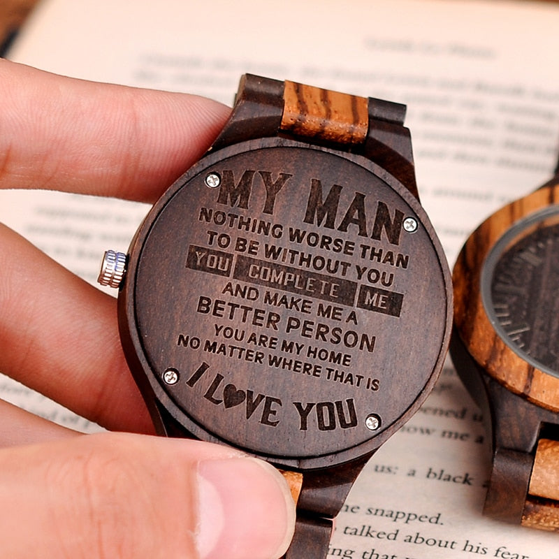 Personalized Wood Watch Customization Best Gifts