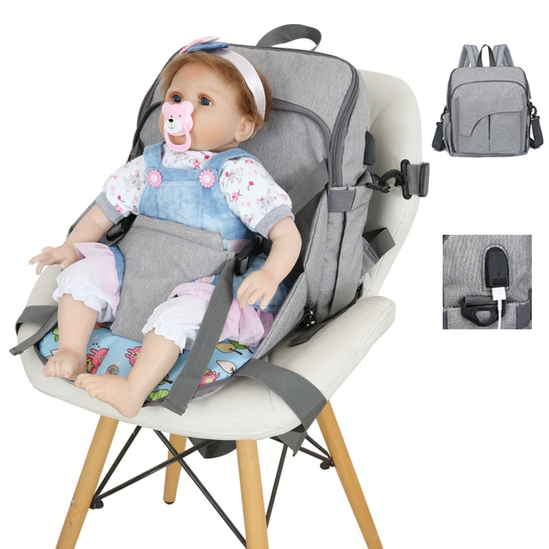 Maternity baby nappy bag backpack usb