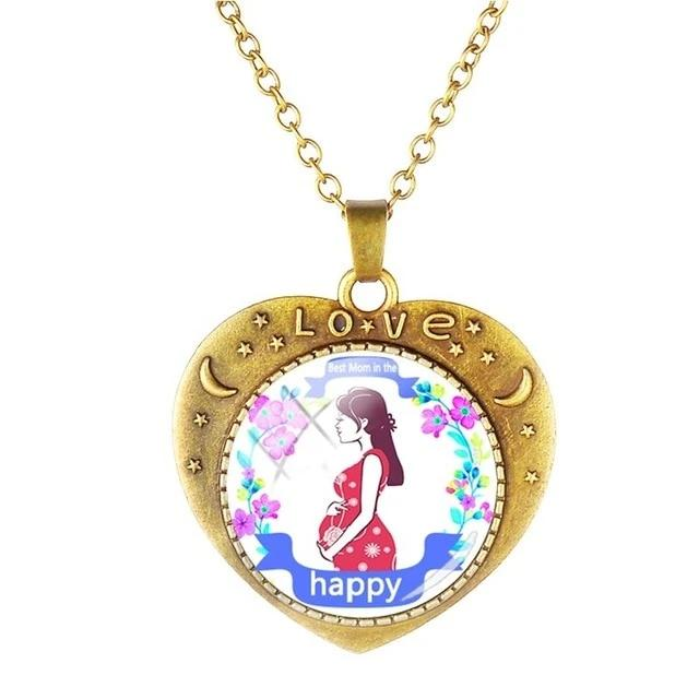 Mom Pendants Heart Necklaces