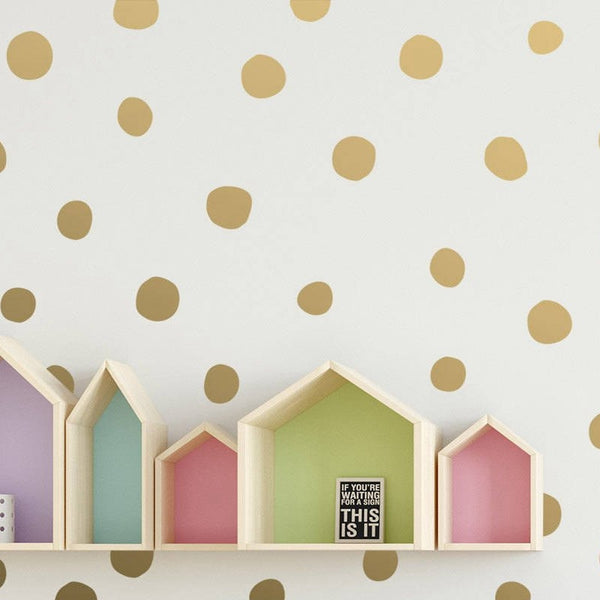 Irregular Polka Dot Wall Decals Baby Room