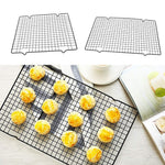 2pcs/set Nonstick Metal Cake Cooling Rack Grid Net Baking Tray Cookies Biscuits Bread Drying Stand Cooler Holder Baking Tools
