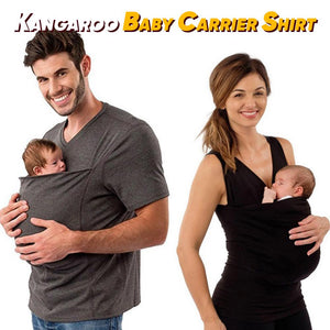 Kangaroo Baby Carrier Shirt for Mom & Dad【Summer Sale】