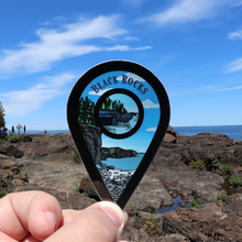 "Load image into Gallery viewer, ""Blackrocks"" Travel Collection Sticker"