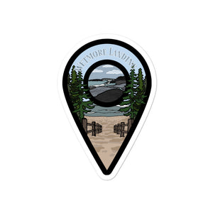 """Wetmore Landing"" Travel Collection Sticker"