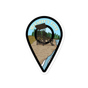 """McCarty's Cove"" Travel Collection Sticker"