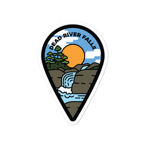 """Dead River Falls"" Travel Collection Sticker"