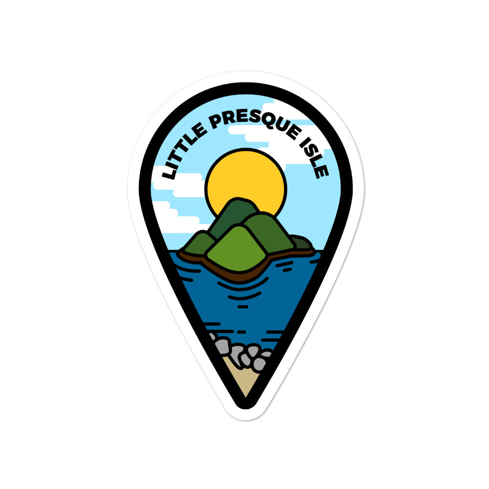 """Little Presque Isle"" Travel Collection Sticker"