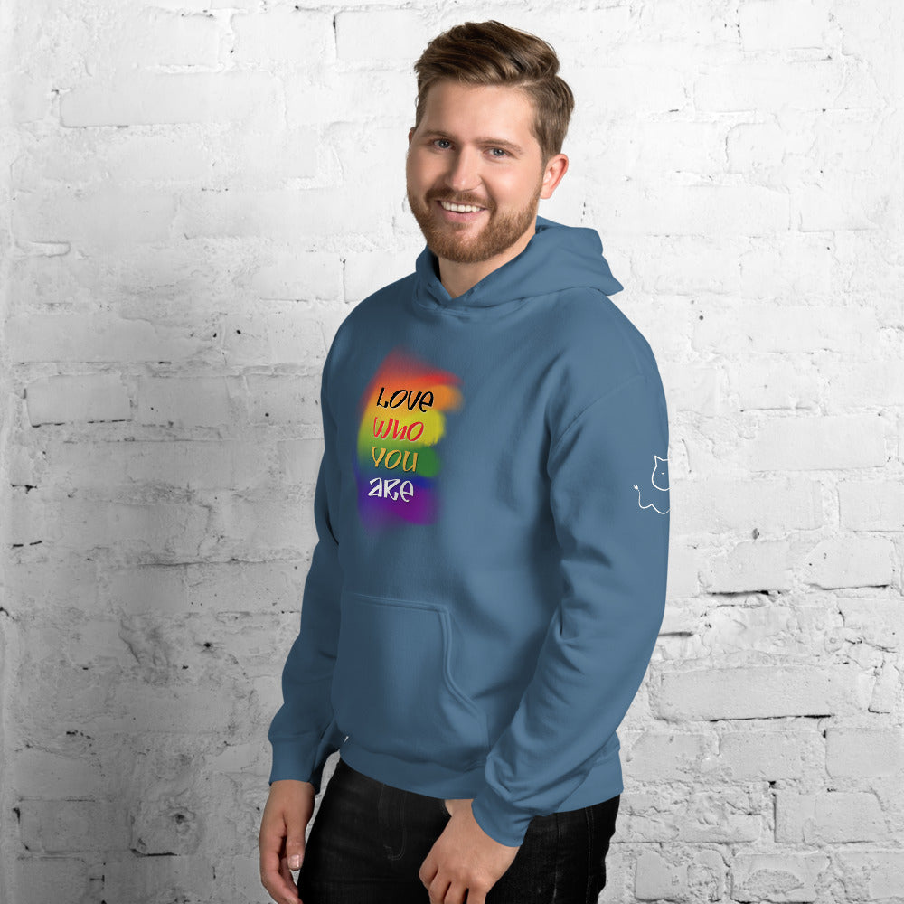 "Men's ""Love Who You Are"" Hoodie"